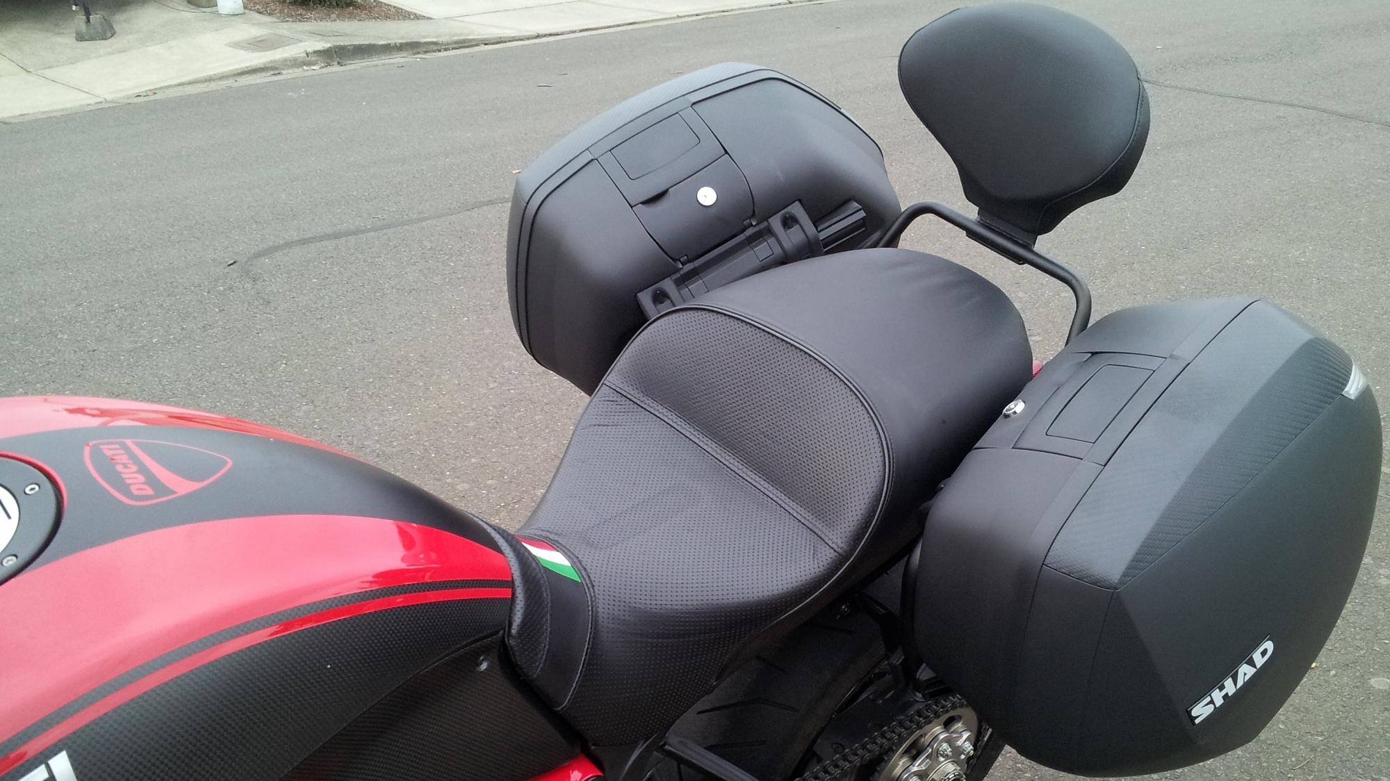 Ducati Diavel Backrest Installation