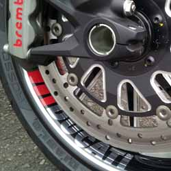 Project Diavel: Close up of the Right Front Wheel - April 2015