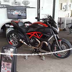 Project Diavel on display at the 2015 Oregon Motorcycle Expo. Won Best Sport Bike in Class.